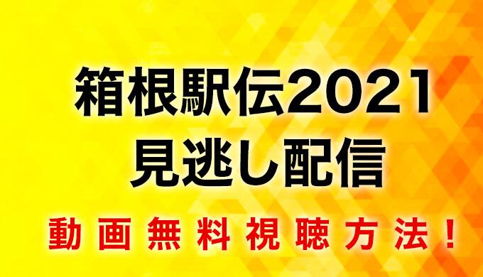 箱根駅伝2021見逃し配信動画無料視聴方法