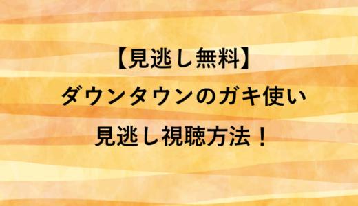 【見逃し無料】ダウンタウンのガキ使い見逃し視聴方法!