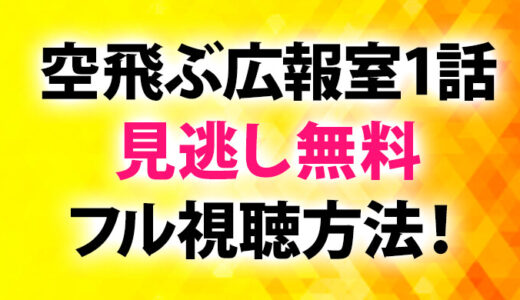 空飛ぶ広報室動画1話見逃し無料フル視聴方法!
