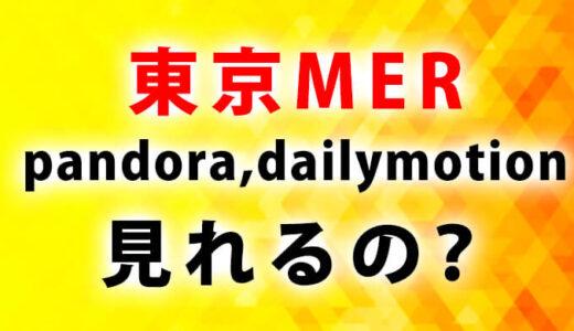 東京MER動画pandora(パンドラ)やdailymotion(デイリーモーション)で見れる?